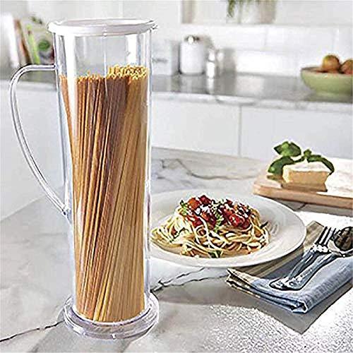 Pasta Express Fast Easy Cooker Fideos Máquina para espaguetis Recipiente para tubos de cocción, espaguetis, pasta y más Cocina Despensa Almacenamiento de alimentos