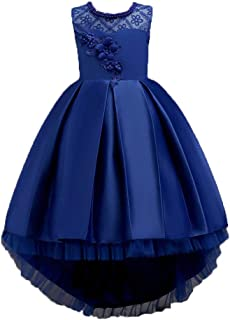 Kid Girl Bridesmaid Wedding Birthday Communion Party Prom Princess Bowknot Maxi Dress