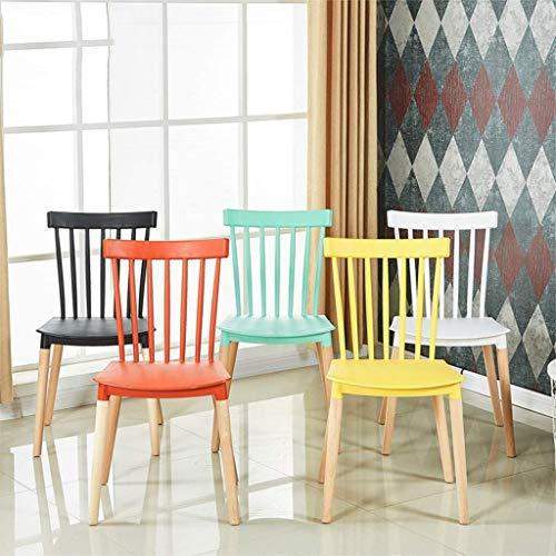 KMMK Hauptstuhl Hocker Klappstuhl-Küche EsszimmerstühleDer moderne Büro-Klappstuhl, Wohnzimmerstühle, Holzbeine Kunststoffsitz und Rückenlehne,Gelb,