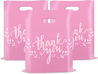 Sponsored Ad - Thank You Merchandise Bags, Retail Shopping Bags for Boutique,Goodie Bags Gift Bags Bulk Die Cut Handle Pla...