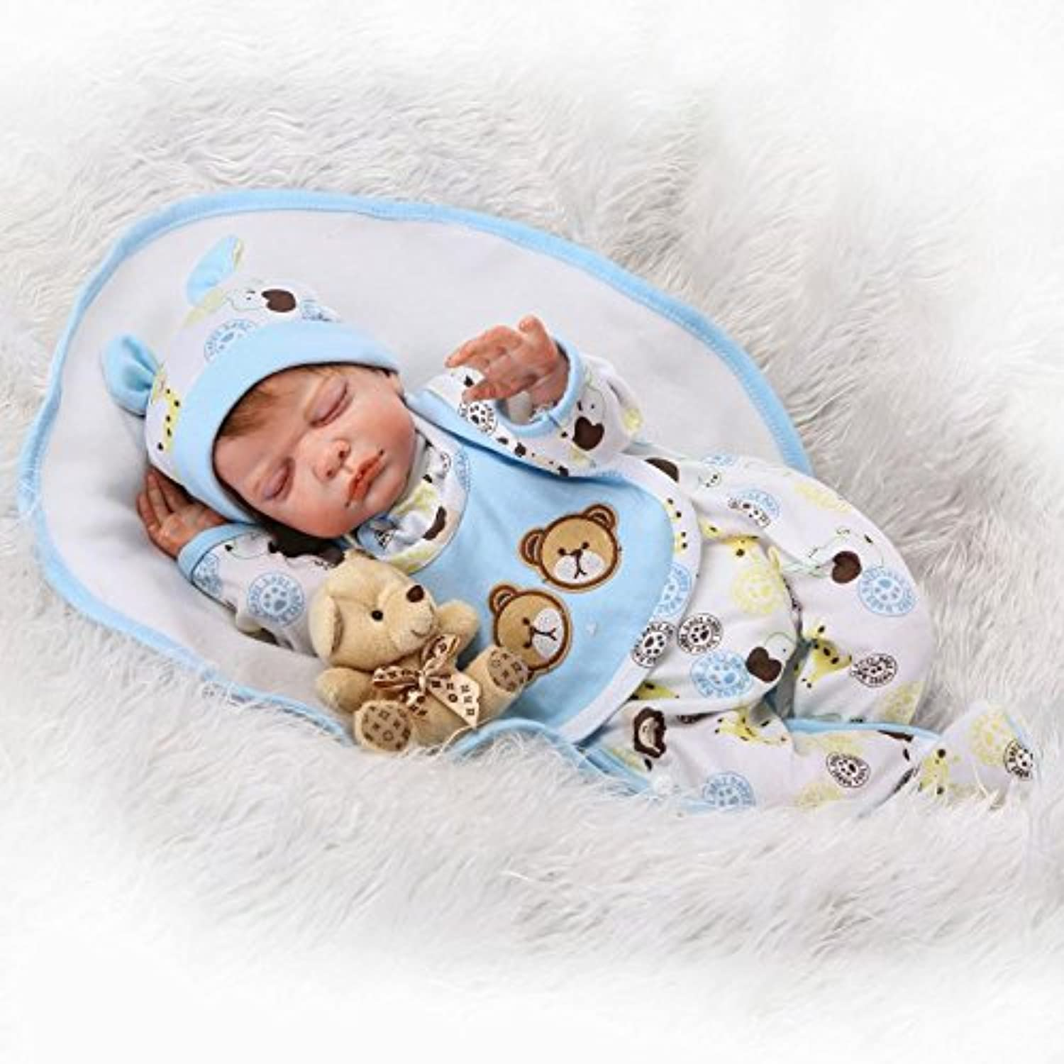 LILITH NEW 22 Inch 55cm Real Lifelike Looking Reborn Doll Realistic Soft Silicone Baby Girl Boy Doll Toddler Vinyl Soft Body Free Magnet Pacifier
