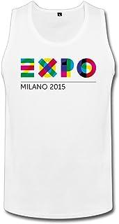 男性 面白い ミラノ カラフル ロゴ タンク タイツ White