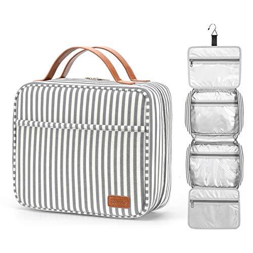Neceser colgante de gran capacidad para viaje, bolsa de aseo impermeable con 4...