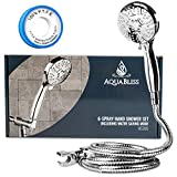 AquaBliss TheraSpa Hand Shower – 6 Mode Massage Shower Head with Hose High Pressure to Gentle...