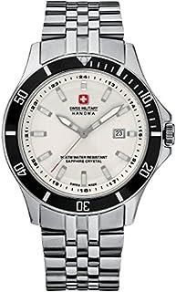 Swiss Military - 06-5161.7.04.001.07 - Reloj analógico de Cuarzo para Hombre con Correa de Acero Inoxidable, Color Plateado