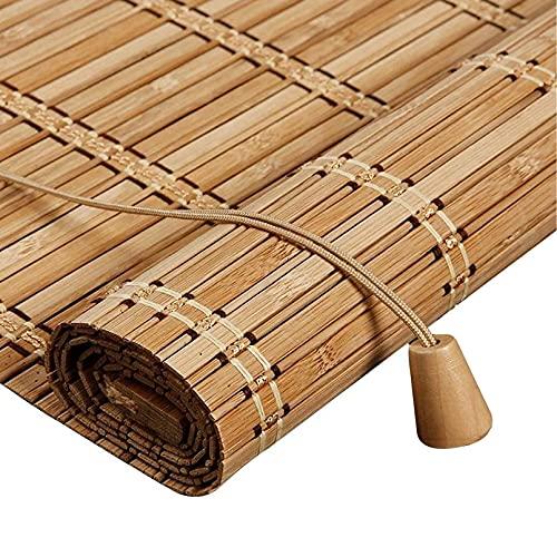 Persiana Bambu Exterior- Persiana Enrollable - Persianas de Madera,Estor Enrollable de Bambú Filtrado de Luz,Cortina Decorativa Anti-UV a Prueba de Polvo para Interior/Exterior (70x180cm/28x71in)
