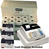 EPOSBITS Brand® 60 rollos + 3 tintas para caja registradora Olivetti ECR7100 ECR 7100