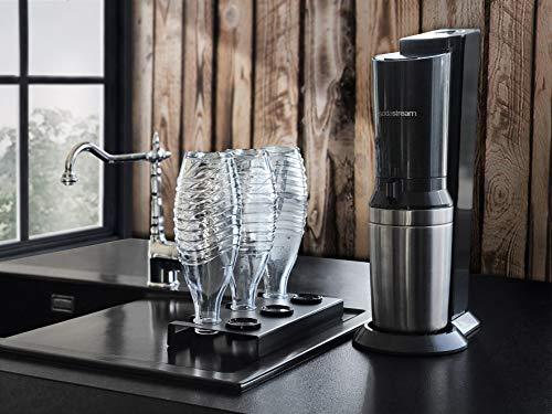 Leckerhelper automatisch lekkere designerflessenhouder, lekbak, afdruipstandaard voor SodaStream flessen van roestvrij staal, Soda Stream bewaren van flessen in het afdruiprek