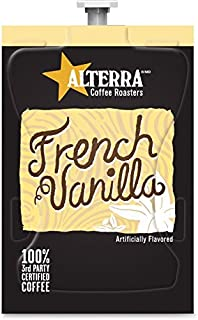 Alterra A183 Alterra Coffee Freshpacks, French Vanilla, 100/CT, Black