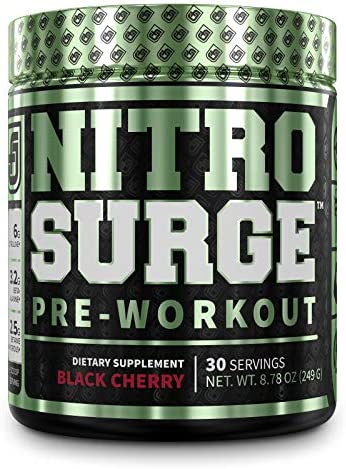 NITROSURGE Pre Workout Supplement Endless Energy Instant Strength Gains Clear Focus Intense product image
