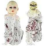 Supvox 2pcs Halloween Suspendus fantôme Effrayant Suspendu poupée hantée Maison Horreur Prop Parti décor