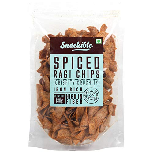 Snackible Assorted Health Chips Combo Pack of Peri Peri Sweet Potato Chips (90gm), Beetroot Chips (90gm) and Spiced Ragi Chips (180gm)   Pack of 1 each