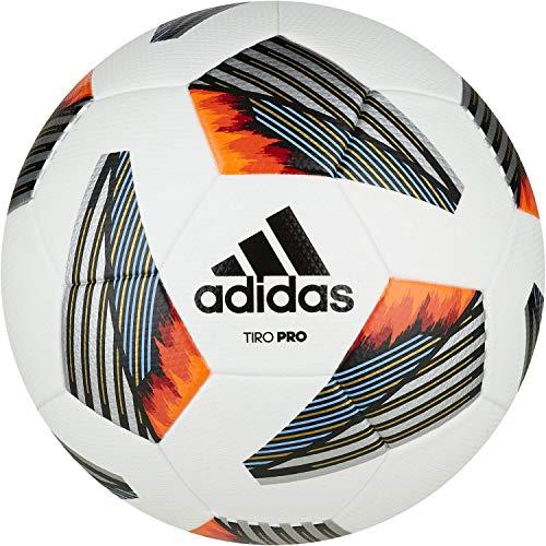 Adidas, Tiro Pro , Pallone Da Calcio, Top: / Nero / Bianco Squadra Luce Blu / Argento Incontrato. In Basso: Oro Met./Team Power Red / Solar Red / Team Solar Arancio, 5, Uomo