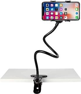360° Flexible Universal Long ARM Lazy Bed Desktop Car Mount Mobile Stand Holder For All Phones With Adjustable Clip (Black)