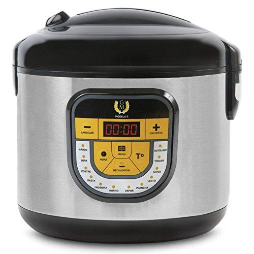 Arrocera multifunción GM Modelo Beta. Robot de cocina, olla programable 24h, Función arroz y 13 menús extra. 5 litros de capacidad y 900W de potencia.