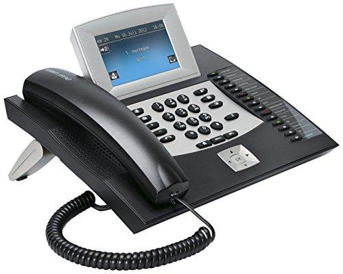 Auerswald COMfortel 2600 Telefon mit Anrufbeantworter und Freisprecheinrichtung (10,9 cm (4,3 Zoll) Farbdisplay, SD-Kartenslot, USB) schwarz