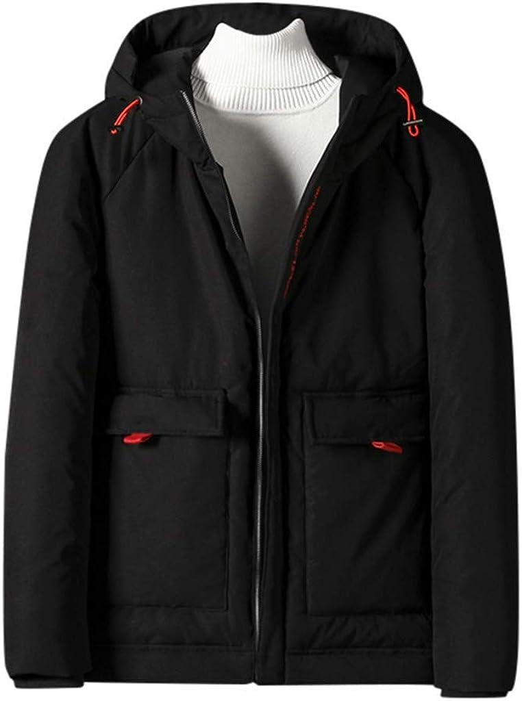 Men's Button Down Coat Puffer Winter Warm Outdoor Windproof Outwear Jacket