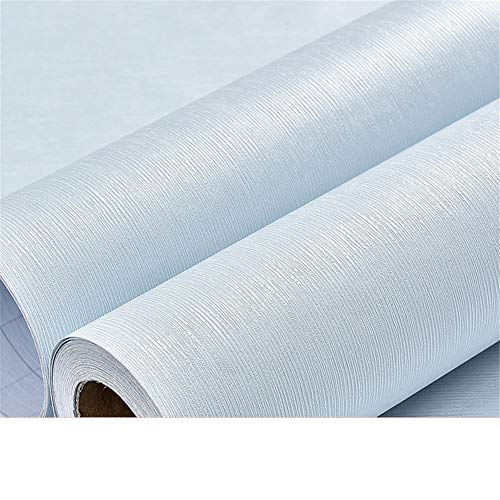 peng Tapeten-Schlafzimmer wärmen 10 Meter 60Cm breite Tapete wasserdichtes einfaches Normallack-Hintergrund-Tapeten, hellblaue Faser