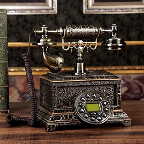 YUBIN Teléfono Teléfono Retro Nordic Decorative Resin Button Dial Teléfono Contestador de Escritorio Manos Libres Línea Fija (Color: Free Free Backlht Replay) (Color : Handsfree Backlht Replay)