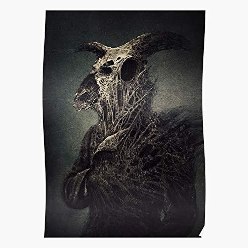 Revolve Giger Beksinski Bones Character Creature Skull Surreal Portrait Beeindruckende Poster für die Raumdekoration, gedruckt mit modernster Technologie auf seidenmattem Papierhintergrund