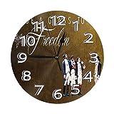 FETEAM Reloj de Pared Hamilton un Musical Americano Relojes de Pared Funciona con Pilas Silencioso Decoración Pared para Cocina, Salon, Oficina, Dormitorio 25cm