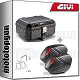 givi maleta trekker dolomiti dlm30b + porta-equipaje + maletas laterales v37nn + portamaletas laterales compatible con kawasaki versys 650 2020 20