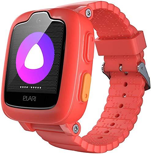 3G Kids Smart Watch Phone GPS Tracker för pojkar och flickor Vattentät, 2-vägs ljud- och videosamtal, SOS-knapp, kamera, MP3-spelare - ELARI KidPhone 3G (Röd)