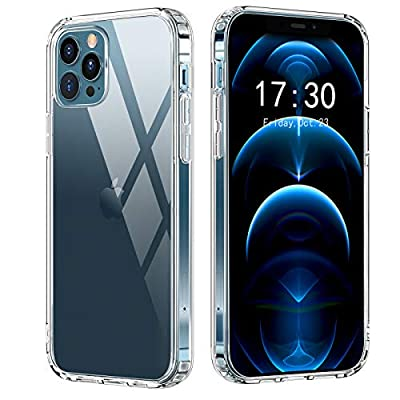 OULUOQI Compatible with iPhone 12 Case, Compatible with iPhone 12 Pro Case, Anti-Drop Protevtive Phone Cases, 6.1 inch, Clear
