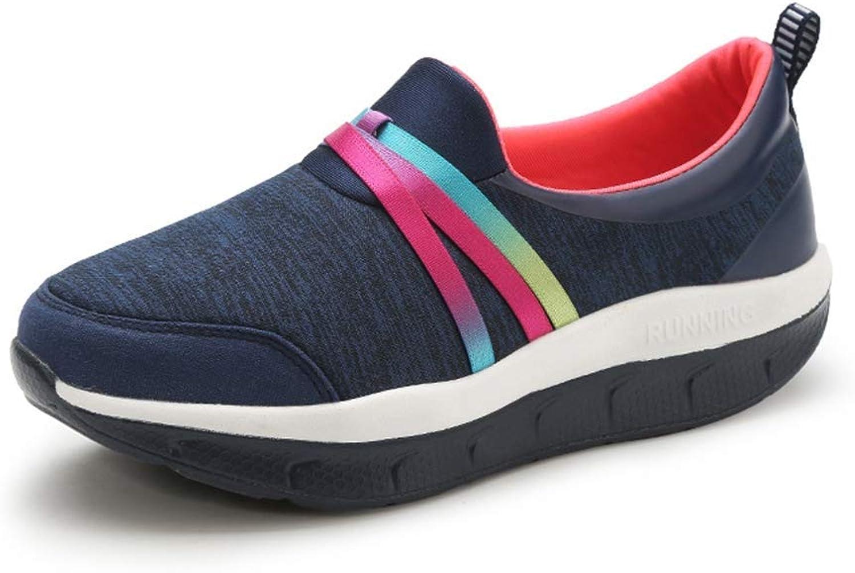Webb Perkin Women Female Fitness Slimming shoes Walking Wedges Platform Lady Sneakers