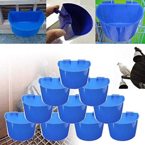 Yongse 1PCS Blue Hanging Water Feeder Cage Cups Animals Food Dish Bowls Pet Water Bowl