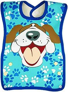 Dex Dura Bib Big Mouth,9-24 months,Blue - Dog