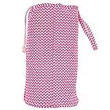 Bolsa de cilindro de crochet, bolsa de asas de organizador innovador 36 cm de algodón para personas que ganchan de ganchillo