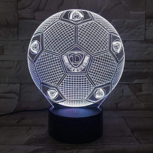 3D Nachtlicht Dresden Dynamo Fußball Illusion Tischlampe LED 7 Color Touch Fernbedienung Color Mood Lampe USB Home Schlafzimmer Nachttischlampe
