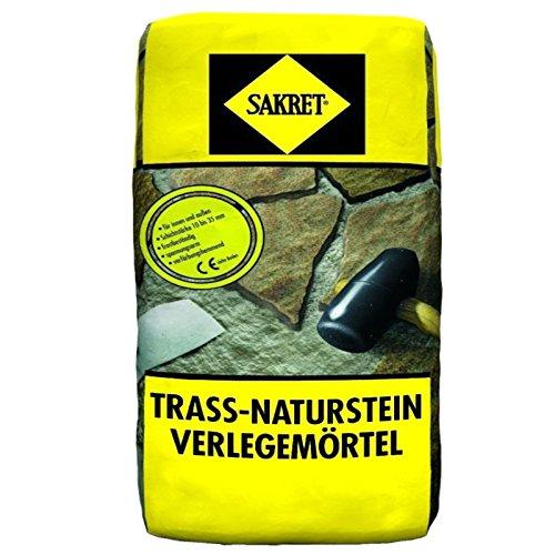 25Kg Trass-Naturstein-Verlegemörtel TNV  Trassmörtel für Natursteine außen + innen SAKRET