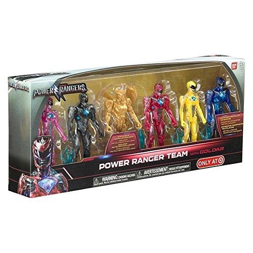 Bandai Collectible Power Rangers Team 6-Piece Set With Exclusive Metallic Goldar