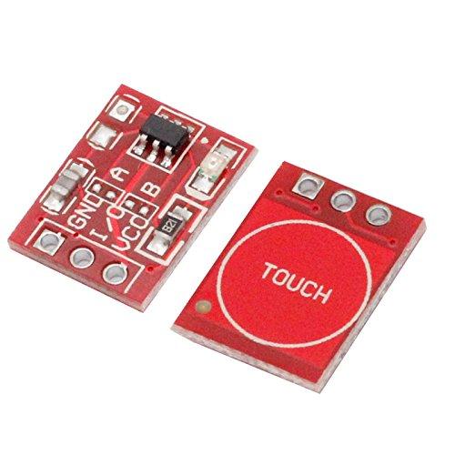 Interruptor capacitativo TTP223 módulo teclado sensor táctil switch 1 tecla way (Arduino-compatible)