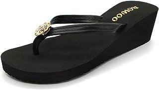 [ONEHOW] 厚底ビーチサンダル ファッションサンダル 厚底 ビーチサンダル ヒール 23~25cm