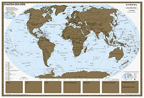 Rubbelkarte Staaten der Erde - Weltkarte scratch map