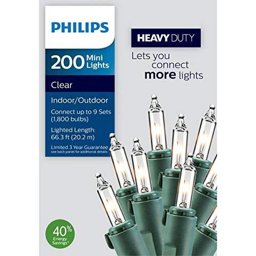 Christmas Lights Clear Mini Lights Lighted Length 66.3 Feet 200 Bulbs
