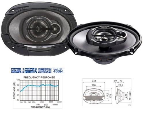 Clarion sre6932r 15,2x 22,9cm Multiaxial 3Weg Lautsprecher System