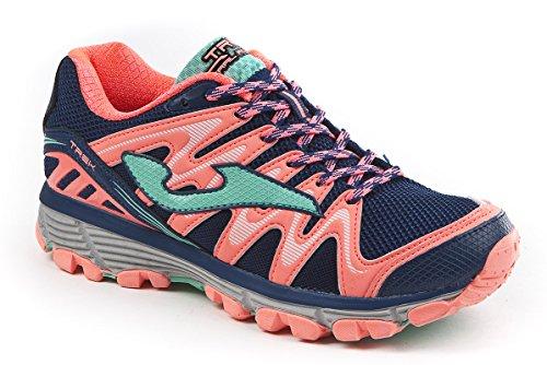 JOMA Trek Lady, Zapatillas de Running para Asfalto Mujer, Azul (Navy), 37 EU