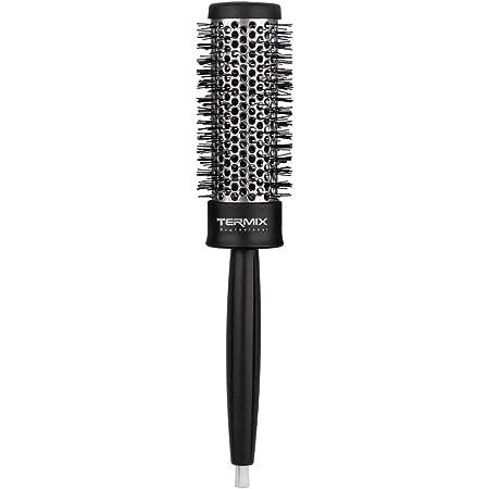 Termix B-4003 Profesional Ø32 - Cepillo de pelo térmico redondo más emblemático de Termix, con tubo de aluminio para retener el calor y reducir el tiempo de secado, Negro