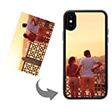 Moonlove Personalized Custom Case for iPhone X/iPhone Xs Create Your Own Phone Case with Photo Text Logo Soft TPU Silicone Protective Case Cover