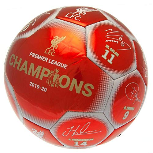 Liverpool FC Premier League Champions Football Signature RW