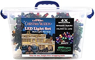 String Light, National Lampoon's Christmas Clark Griswold Project Pack of 400 LED Lights 4X Brighter 85 feet. 8mm Concave. Muticolored.