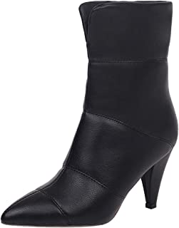 KemeKiss Women High Heel Pull On Winter Boots Cone Heel