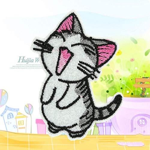 Geborduurd ijron - schattige kattenvorm DIY motief applicatie cartoon geborduurd ijzer op patches Sequins clothing - Fabric geborduurde meisjes wit iron on nummers clothing patches marvel letters F 1