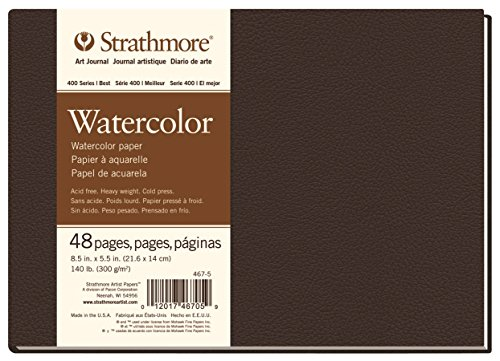 Strathmore 467-5 STR-467-5 48 Sheet No 140 Watercolor Art Journal, 8.5 by 5.5', 5.5'x8.5', 24