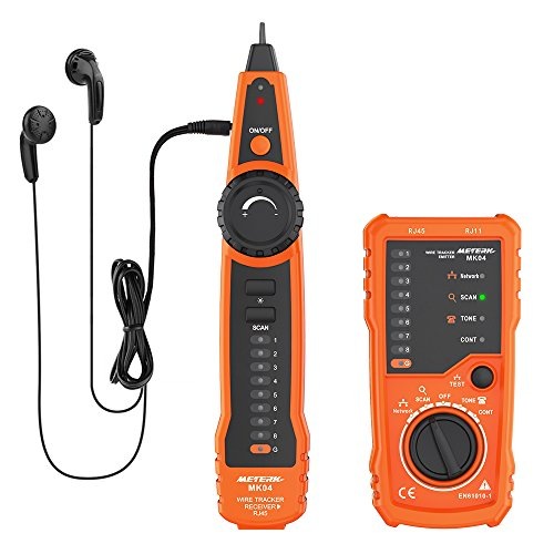 Kabeltester, Meterk Line Finder RJ11 RJ45 Handheld Tracker Multifunktionskabel Check Wire Messgerät für Netzwerk Wartung Collation, Telefonleitungstest, Kontinuitätsprüfung