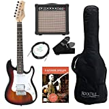 Rocktile Sphere Junior Guitare Eléctrique 3/4 Sunburst SET avec ampli, cable et sangle